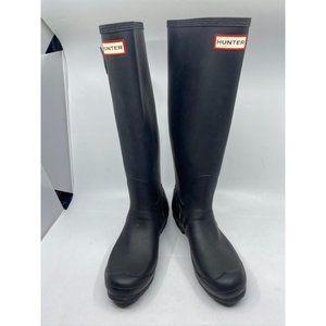 Hunter Women's Blue Rain Boots Size 8